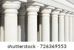 Colonnade With Daric Columns....
