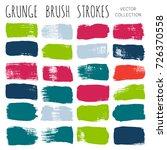 set of brush strokes in... | Shutterstock .eps vector #726370558