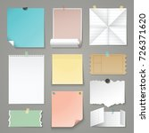 set of paper backgrounds. torn... | Shutterstock .eps vector #726371620