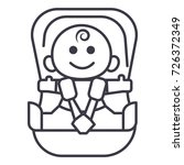 baby in car  security chair... | Shutterstock .eps vector #726372349