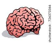 human brain. vector illustration | Shutterstock .eps vector #726373366