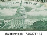 close up on us dollar banknotes.... | Shutterstock . vector #726375448