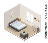 isometric bedroom interiors... | Shutterstock .eps vector #726376168