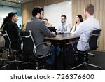 picture of businesspeople... | Shutterstock . vector #726376600