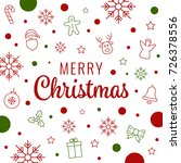 merry christmas lettering icon... | Shutterstock .eps vector #726378556