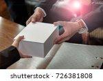 closeup of business man give... | Shutterstock . vector #726381808