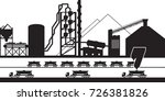 cement production plant  ... | Shutterstock .eps vector #726381826