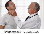 man getting thyroid gland...   Shutterstock . vector #726383623