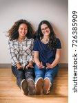 portrait of teenage girls best... | Shutterstock . vector #726385909