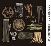 illustration with wood. | Shutterstock .eps vector #726387130