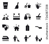 16 vector icon set   uv cream ... | Shutterstock .eps vector #726387208