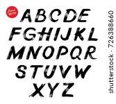 hand lettering sketch font.... | Shutterstock .eps vector #726388660