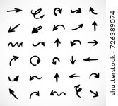 hand drawn arrows  vector set | Shutterstock .eps vector #726389074
