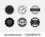 vape labels vector set for... | Shutterstock .eps vector #726389473