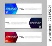 vector abstract banner | Shutterstock .eps vector #726392104