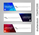 vector abstract banner | Shutterstock .eps vector #726392200