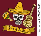day of the death poster with... | Shutterstock .eps vector #726392440