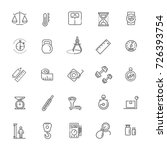 measuring related web icon set  ... | Shutterstock .eps vector #726393754