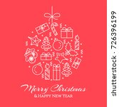 christmas and new year banner... | Shutterstock .eps vector #726396199