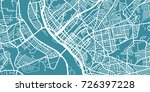 detailed vector map of... | Shutterstock .eps vector #726397228
