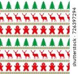 christmas seamless pattern ... | Shutterstock .eps vector #726397294