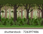 pixel background with forest... | Shutterstock .eps vector #726397486