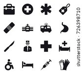 16 vector icon set   hospital ... | Shutterstock .eps vector #726398710