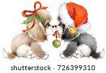 dog year greeting card. cute... | Shutterstock . vector #726399310