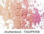 Small photo of Makeup powder background - warm pink tones