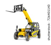telescopic handler isolated on...