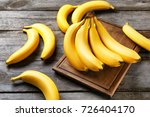Yummy Bananas On Wooden...