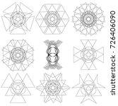 festive geometric pattern for... | Shutterstock .eps vector #726406090