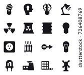 16 vector icon set   bulb  bulb ... | Shutterstock .eps vector #726408769