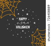 halloween hand drawn invitation ... | Shutterstock .eps vector #726408889