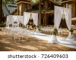 place for wedding ceremony in... | Shutterstock . vector #726409603
