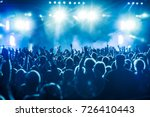 cheering crowd at rock concert... | Shutterstock . vector #726410443
