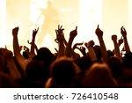 cheering crowd at rock concert... | Shutterstock . vector #726410548