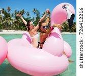 summer lifestyle portrait of... | Shutterstock . vector #726412216