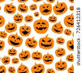 white seamless halloween... | Shutterstock .eps vector #726412318