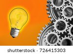 3d illustration of light bulb... | Shutterstock . vector #726415303
