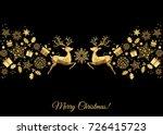 christmas golden  decoration.... | Shutterstock .eps vector #726415723