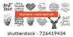 set of romantic and love vector ... | Shutterstock .eps vector #726419434