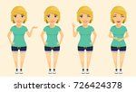 young attractive blond girl... | Shutterstock .eps vector #726424378