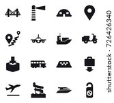 16 vector icon set   bridge ... | Shutterstock .eps vector #726426340