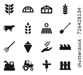 16 vector icon set   greenhouse ... | Shutterstock .eps vector #726428134