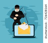 hacking fishing attack concept. ... | Shutterstock .eps vector #726428164