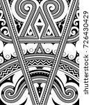 polynesian ethnic style... | Shutterstock .eps vector #726430429