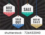 shopping tags sale best price... | Shutterstock .eps vector #726432040