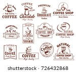 coffee cup icons template for...   Shutterstock .eps vector #726432868