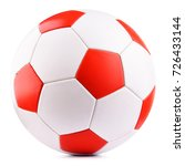 leather soccer ball isolated on ... | Shutterstock . vector #726433144